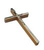 Kríž: drevený s lištou - hnedý 13 cm (KVZ011)
