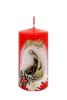 Sviečka: Sv. rodina - červená (50/100) - orechová škrupinka, valec, 100g