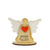 Anjel drevený s nápisom (ADZ004)