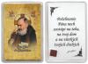 Obrázok v púzdre: Sv. Páter Pio (634B) - s relikviou a požehnaním
