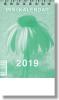 Mini kalendár: stolový, zelený - 2019 (NEO) - fotografia 3