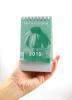Mini kalendár: stolový, zelený - 2019 (NEO) - fotografia 5