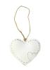 Srdce plechové - biele (dekorácia MB0018)