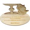 Citát na dreve: Sväté prijímanie nás oblieka (KALICH 3D) - fotografia 3