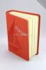 Biblia - oranžová - koženka - fotografia 3