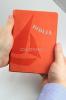 Biblia - oranžová - koženka - fotografia 5